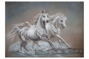 Helen Coulter Art | White Horses